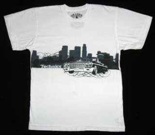 You are bidding on a brand new Technics tee shirt. The front is