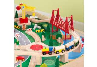 KidKraft Waterfall Mountain Train Set & Table ~ 120 Pcs |