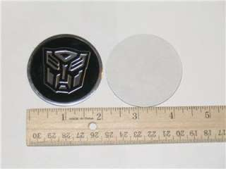 4X Transformers Emblem Badge Sticker Chrome Autobot 3D