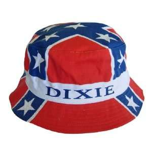 Flag Mens Cotton Bucket Hat   Dixie Rebel Flag: Sports & Outdoors