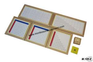 MONTESSORI MATH   MULTIPLICATION WORKING CHARTS   NEW