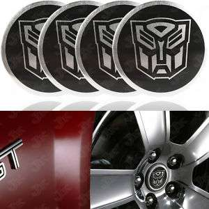 PCS Transformers Autobot Logo Wheel Center Decal Hub