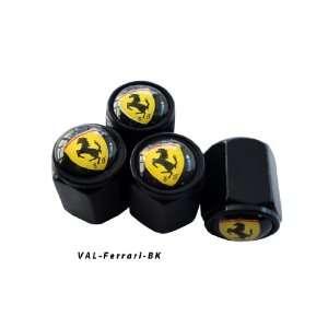 AGT Aluminum Black Valve Caps Tire Cap Stem for Ferrari Wheels (Pack
